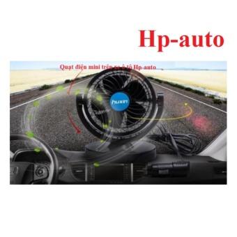 Quạt điện xoay 360 dùng điện 12V trên xe ô tô Hp-auto