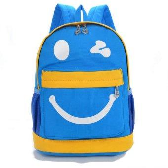 Ba lô trẻ em Cartoon mặt cười HQ205922-5 (Xanh)