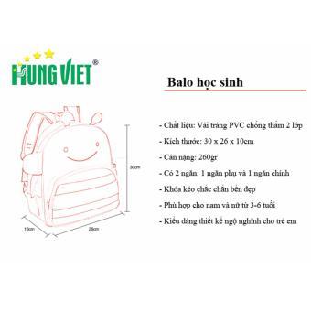 Balo học sinh trẻ em hình voi Hưng Việt