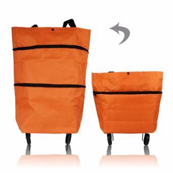 Túi xách có bánh xe kéo tiện lợi màu cam