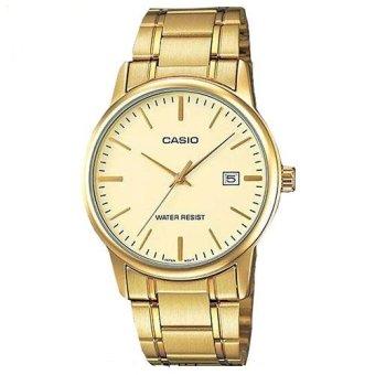 Đồng hồ nam dây kim loại Casio MTP-V002G-9audf (Vàng)
