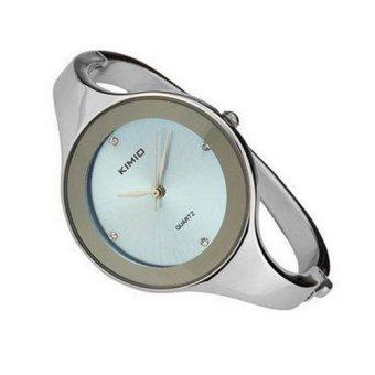 Đồng hồ nữ dây thép không gỉ Kimio K2682L-S13 mặt xanh