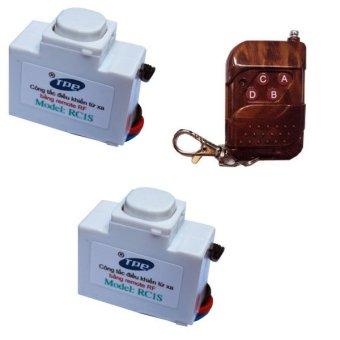 Bộ 2 công tắc điều khiển từ xa xuyên tường TPE RC1S-com2 (Trắng)