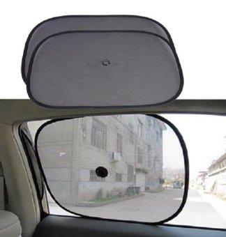 Bộ 2 tấm màn che nắng cửa sổ tròn cho ô tô SM35