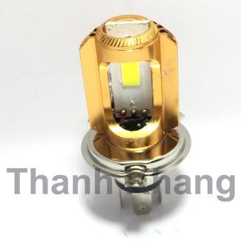 Đèn pha led Thanh Khang 3 chân H4-COB ánh sáng trắng cho xe máy