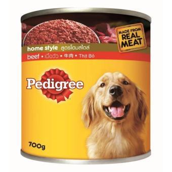 Thức Ăn Cho Chó Lớn Pedigree Vị Bò Lon 700g (Hàng nhập khẩu)