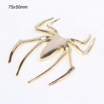 Decal spider inox (vàng)