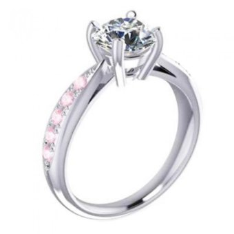 Nhẫn nữ đá kim cương nhân tạo NNU18