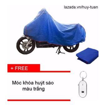 Bạt che xe máy ( màu xanh ) + free móc khóa huýt sáo thông minh ( Trắng )