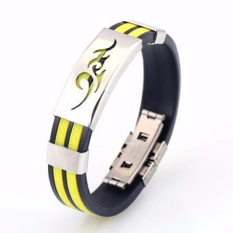 Vòng tay thể thao cao su vàng sport bracelet nam nữ