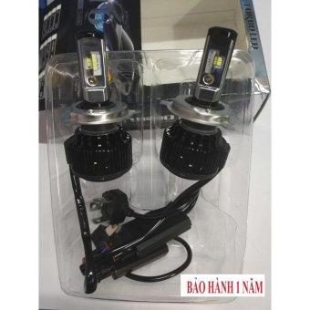 Bộ 2 bóng đèn led ô tô turbo T6-H4 6000k (30W) ( sáng trắng ) Hv shop