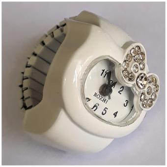 Đồng hồ nhẫn nơ mèo đính đá