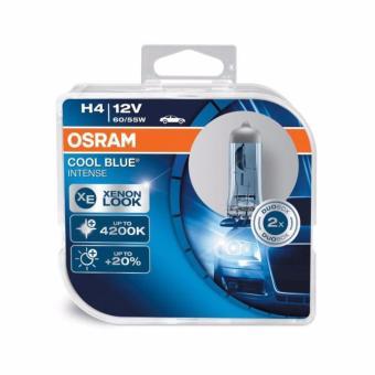 Bộ 2 bóng đèn ô tô Osram H4 Coolblue Intense 4200K ( Xanh )