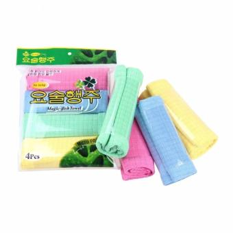 Bộ 8 khăn Microfiber chuyên dụng lau xe Ô tô 40 x 30