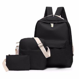 Bộ 1 balo + 1 túi đeo chéo và 1 ví cầm tay Fortune Mouse KQ191 (Đen).