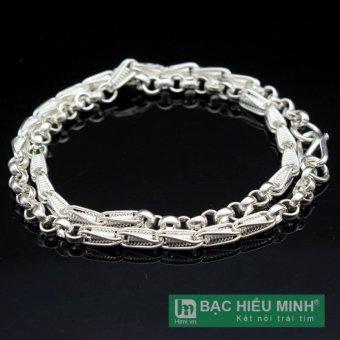 Dây chuyền trẻ em bằng bạc ta BẠC HIỂU MINH dte020 4 chỉ