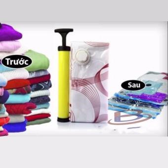 Túi hút chân không đựng quần áo giúp bạn bảo quản quần áo, chăn màn khỏi ẩm mốc + kèm 1 bơm tay