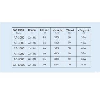 Máy Bơm Nước Bể Cá/ Ao Cá/ Hồ Cá Atman AT-5000 ( 55W, 5000l/h)