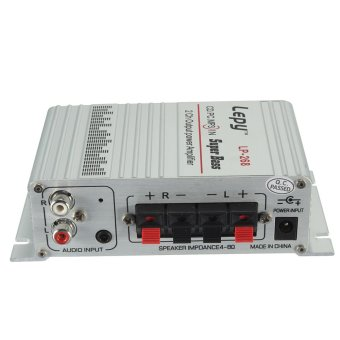 Lepai Lepy LP-268 2 CH Mini Hi-Fi Stereo Amplifier Amp Radio MP3 DC 12V 2A - intl