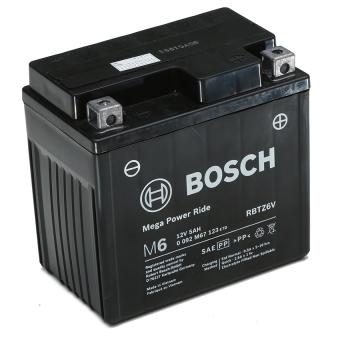 Bình điện ắc qui khô dành cho xe máy Bosch RBTZ6V