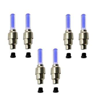 Bộ 6 đèn LED trang trí gắn van bánh xe máy ô tô tiện ích HQ STORE 1TI31-3