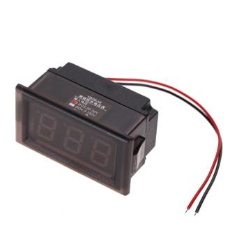 LED Voltmeter Digital Volt Meter Gauge Red (Intl)