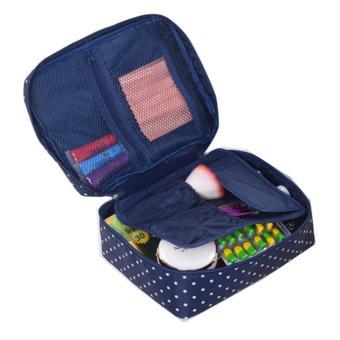 Túi đựng mỹ phẩm đi du lịch Flancoo 3643 (Xanh đen)