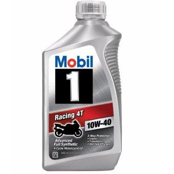 Nhớt tổng hợp xe máy, mô tô PKL Mobil 1 Racing 10W40 946ml (nhập khẩu USA)