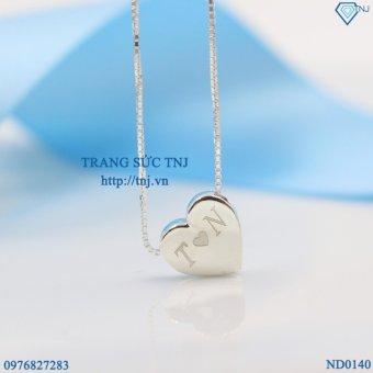 Dây chuyền bạc nữ trái tim khắc tên theo yêu cầu DCN0140