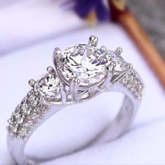 Nhẫn nữ cao cấp đính đá không gỉ minhtueshop R8