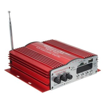 4 Channel Hi-Fi Stereo Audio Amplifier Booster DC 12V Car Home MP3 Speaker Amp - intl