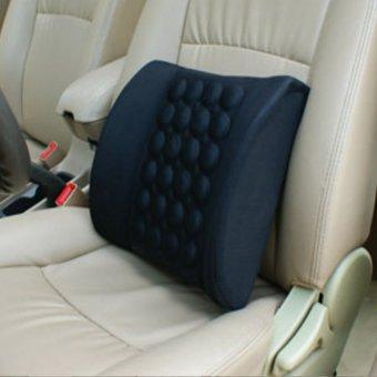Đệm dựa lưng massage điện cho ô tô HQ STORE 0TI72-3(đen)