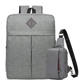 Bộ Balo Laptop Và Túi Messenger Glado BBL003 (Màu Xám)