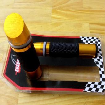 Bộ 2 bao tay lái xe máy gù xéo có đèn Led (vàng cam)