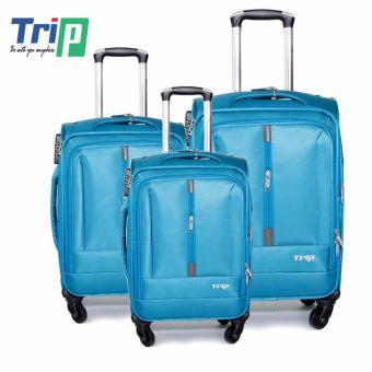 Bộ 3 Vali Vải TRIP P031 (Xanh thiên thanh)