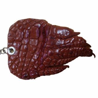 Móc treo chìa khóa da cá sấu (Nâu đỏ)