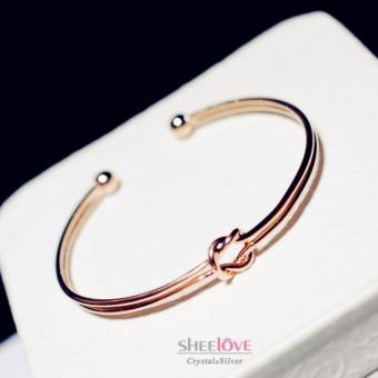 Vòng tay nữ nút thắt tình yêu thời trang HKB-101274