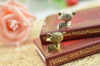 Nhẫn hồ ly xinh xắn màu đồng