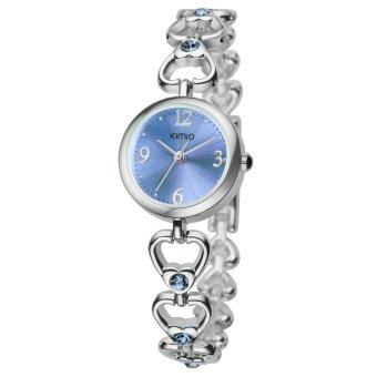 Đồng hồ nữ dây thép không gỉ KIMIO K490S-S1313 mặt xanh (Xanh)