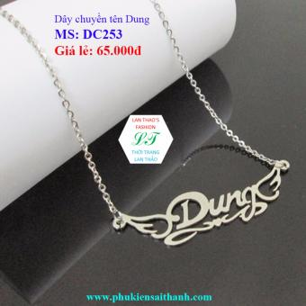 Dây chuyền Inox Nữ tên DUNG siêu xinh DC253 (TRẮNG)