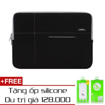 Túi Chống Sốc Jcpal Neoprene Macbook 12 (Xám) + Ốp Lưng Ou Silicone