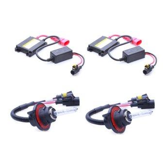 Bộ 2 đèn xenon HID H13 pha cos xe ô tô 35W 6000K (Trắng)