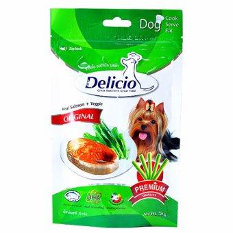 Thức ăn vặt cho chó mèo vị cá hồi và rau hiệu Goodies Snack Delicio