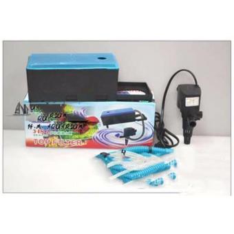 Máy bơm nước mini cho hồ cáMáy bơm + máng lọc bể cá công suất lớn 1785 L/H hiệu quả 3 trong 1 - BH UY TÍN.