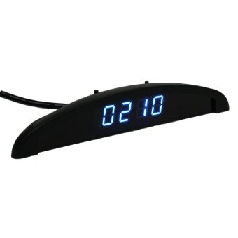Digital led Electronic Time Clock + Thermometer + Voltmeter 3 In 1 For Car Auto - Intl