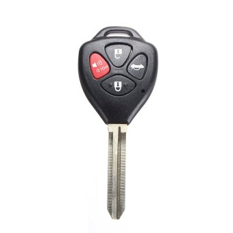New 4 Button Remote Key Keyless Shell for TOYOTA Carola Fe 2008-2012 Uncut Blade - Intl