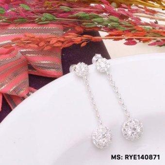 Bông tai nữ trang sức bạc S925 Italia Bạc Xinh RYE140871