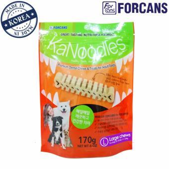 Kẹo bảo vệ răng miệng cho thú cưng KaNoodles Forcans size L (dạng gói 170g)