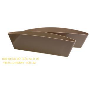 Bộ 2 hộp đựng đồ trên xe ô tô VIPauto-HĐĐ02 - Be