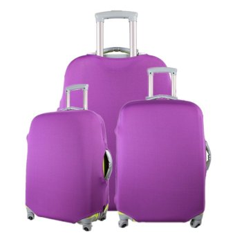 1 x Luggage Protector Elastic Suitcase Cover Bags Dust-proof Case 24'' Purple - intl